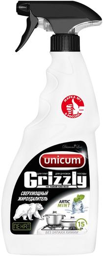Unicum Grizzly Artic Mint сверхмощный жироудалитель пена для плит, духовок и посуды (500 мл)