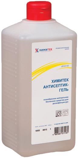 Химитек Антисептик-Гель гелеобразное беспенное средство для дезинфекции рук (1 л)