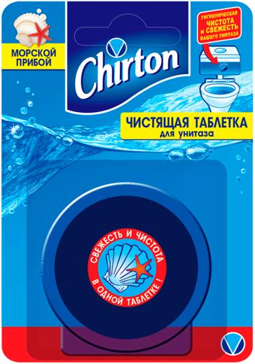 Чиртон Морской Прибой чистящая таблетка для унитаза (100 г)