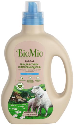 Biomio Bio-2 in 1 гель для стирки и пятновыводитель (1.5 л)