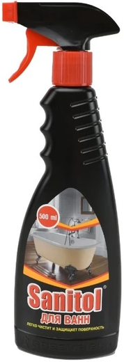 Санитол средство для чистки акриловых и эмалированных ванн (500 мл)