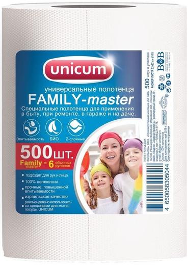 Универсальные полотенца Unicum Family-Master (230 мм*220 мм) целлюлоза