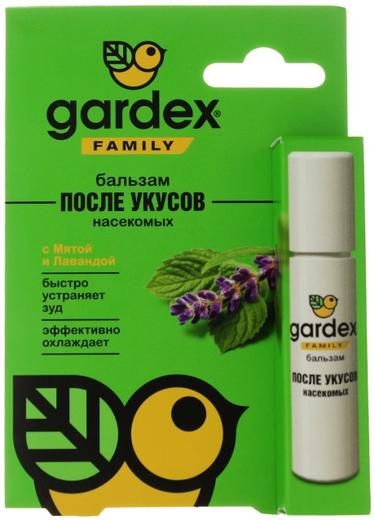 Gardex Family с Мятой и Лавандой бальзам после укусов насекомых (7 мл)