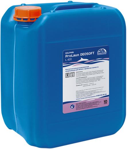 Dolphin Prolaun Deosoft L 420 концентрированный кондиционер для белья с ароматом свежести (10 л)