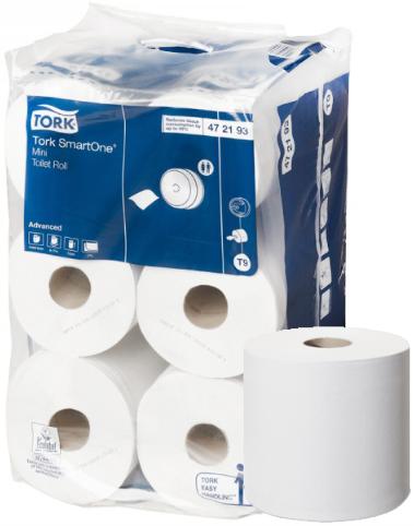 Бумага туалетная в мини-рулонах Tork Smart One Mini Advanced T9 (2 слоя)