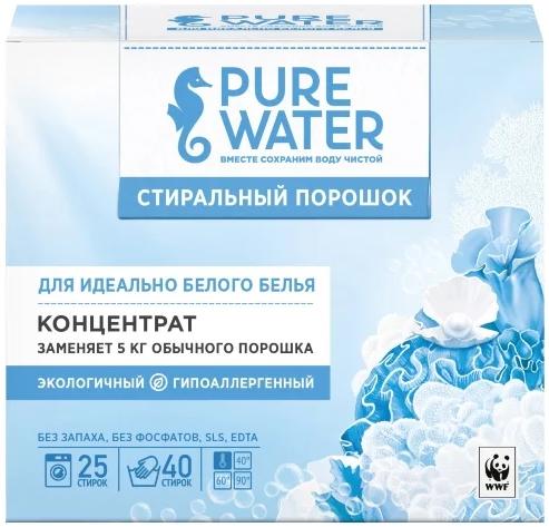 Pure Water стиральный порошок для идеально белого белья концентрат (800 г)