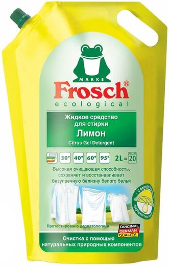 Frosch Лимон жидкое средство для стирки белого белья (2 л)