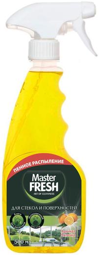 Master Fresh Аромат Лимона средство для стекол и поверхностей (500 мл)