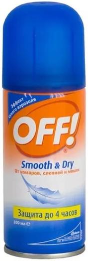 ОФФ Smooth & Dry аэрозоль от комаров, слепней и мошек (100 мл)