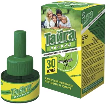 Тайга Ликвид 30 Ночей жидкостной наполнитель для защиты от комаров (50 г)