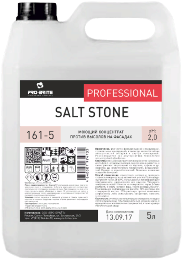 Pro-Brite Salt Stone моющий концентрат против высолов на фасадах (5 л)