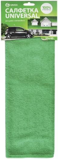 Салфетка для дома и автомобиля Grass Universal (400 мм*300 мм) микрофибра