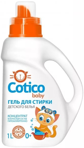 Cotico Baby гель-концентрат для стирки детского белья гипоаллергенный (2 л)