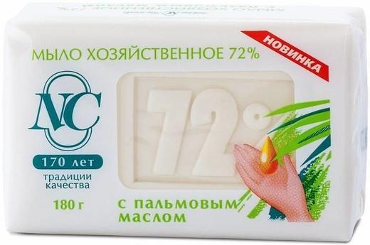 Невская Косметика 72% с Пальмовым Маслом мыло хозяйственное (180 г)