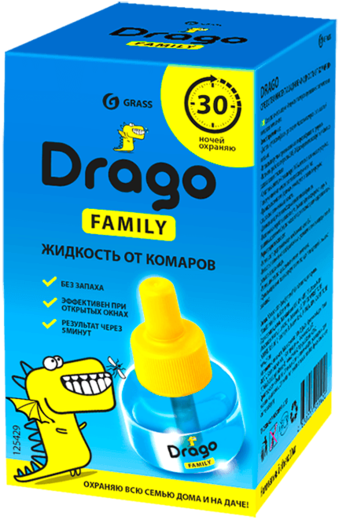 Grass Drago Family жидкость от комаров (30 мл)