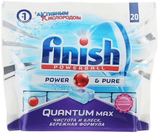 Finish Powerball Quantum Power & Pure таблетки для посудомоечных машин (20 таблеток в пачке)