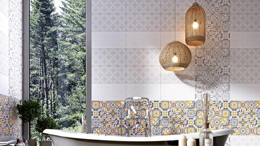 Нефрит-Керамика Алькора Микс Пэчворк 00-00-5-08-30-06-1483 плитка настенная (200 мм*400 мм)