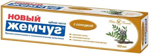 Новый Жемчуг с Солодкой зубная паста (100 мл)