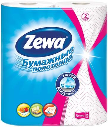 Zewa Standart Декор полотенца бумажные универсальные (2 рулона в пачке)