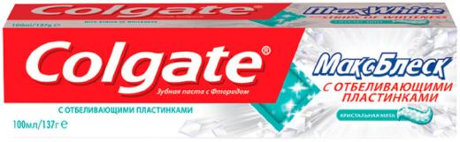 Колгейт Макс Блеск Кристальная Мята зубная паста с фторидом (100 мл)