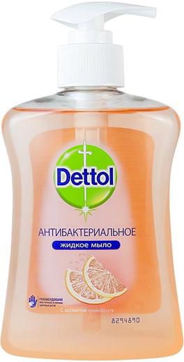 Dettol Бодрящая Свежесть с Ароматом Грейпфрута мыло для рук жидкое антибактериальное (250 мл)