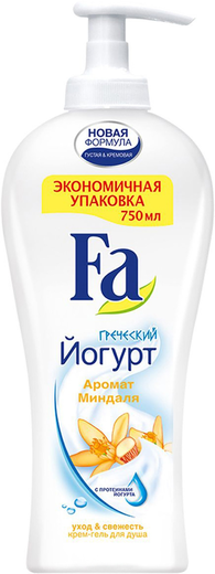 Fa Греческий Йогурт c Ароматом Миндаля интенсивно ухаживающий крем-гель для душа (250 мл)