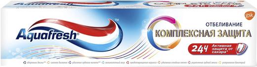 Аквафреш Комплексная Защита Отбеливание зубная паста (100 мл)