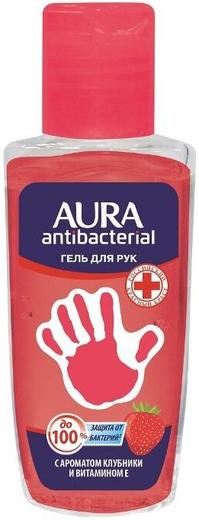 Aura Antibacterial Аромат Клубники с Экстрактом Алое гель для рук антибактериальным эффектом (50 мл)