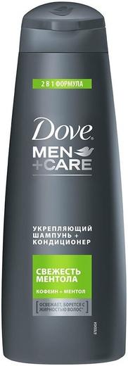 Dove Men+Care Свежесть Ментола шампунь-кондиционер укрепляющий 2 в 1 (250 мл)