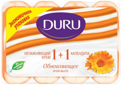 Duru 1+1 Увлажняющий Крем и Календула мыло туалетное обновляющее (1 блок)