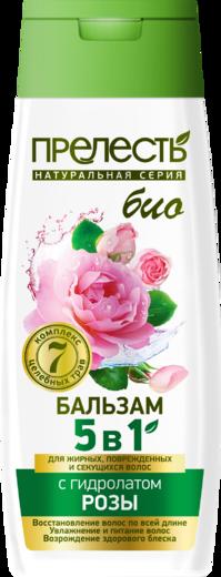 Прелесть Био с Гидролатом Розы бальзам для жирных, поврежденных и секущихся волос (250 мл)
