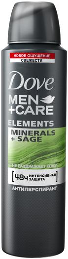 Dove Men+Care Elements Minerals+Sage антиперспирант аэрозоль (150 мл)