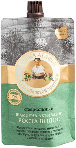 Рецепты Бабушки Агафьи Банька Агафьи Секреты Сибирской Травницы Специальный шампунь-активатор роста волос (100 мл)