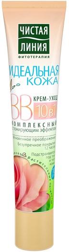 Чистая Линия Фитотерапия Идеальная Кожа Комплексный BB крем с тонирующим эффектом 10 в 1 (40 мл)
