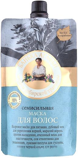 Рецепты Бабушки Агафьи Банька Агафьи Секреты Сибирской Травницы Семисильная маска для волос (100 мл)