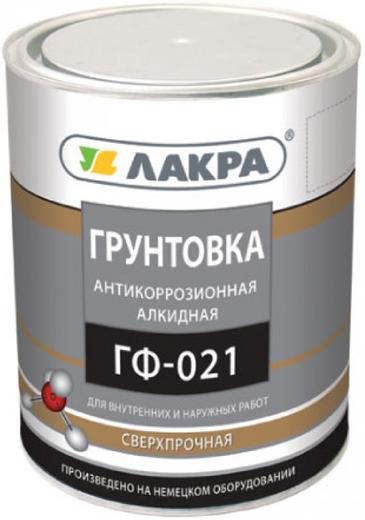 Лакра ГФ-021 грунтовка антикоррозионная алкидная быстросохнущая (15 кг) серая