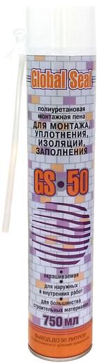 Global Seal GS50 полиуретановая монтажная пена (750 мл) ручная