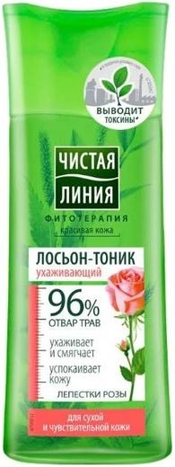 Чистая Линия Фитотерапия Лепестки Роз лосьон-тоник ухаживающий для сухой и чувствительной кожи (100 мл)