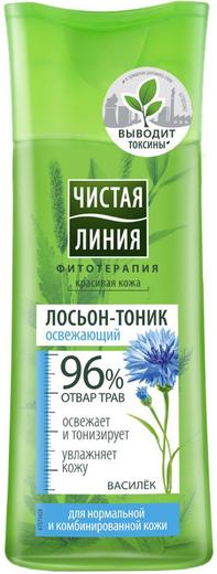 Чистая Линия Фитотерапия Василек лосьон-тоник освежающий для нормально и комбинированной кожи (100 мл)
