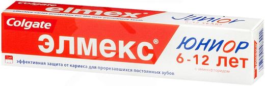 Колгейт Elmex Junior зубная паста детская от 6-12 лет (75 мл)