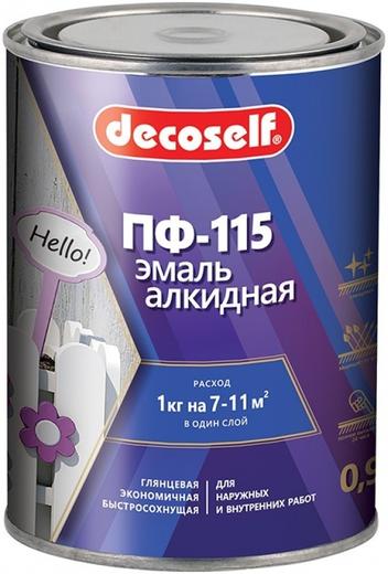 Пуфас Decoself ПФ-115 эмаль алкидная (900 мл) белая глянцевая
