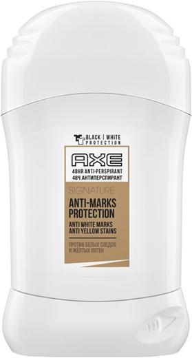 Axe Signature Anti-Marks Protection антиперспирант карандаш против белых следов и желтых пятен (50 мл)