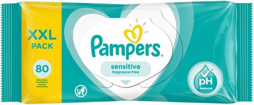 Pampers Sensitive салфетки влажные детские (56 салфеток в пачке)