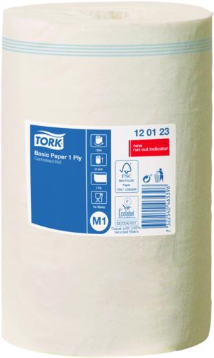 Tork Basic Paper 1 Ply M1 бумага протирочная базовая (1 рулон)