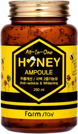 Farmstay All-in-One Honey Ampoule Anti-Wrinkle & Whitening ампульная сыворотка с медом (250 мл)