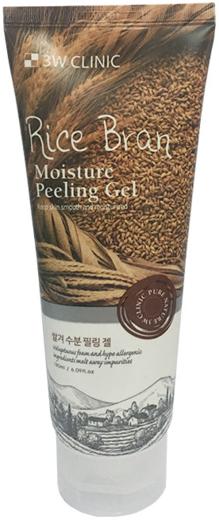 3W Clinic Rice Bran Moisture Peeling Gel пилинг-гель увлажняющий для лица с экстрактом бурого риса