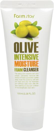Farmstay Olive Intensive Moisture Foam Cleanser пенка очищающая с экстрактом оливы (100 мл)