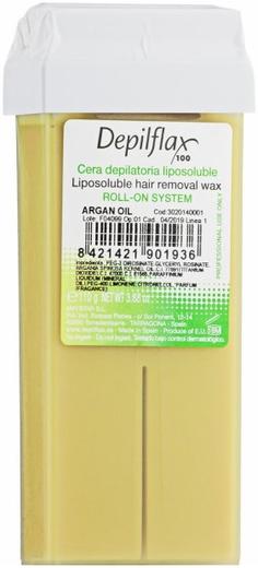 Depilflax 100 Argan Oil теплый воск для депиляции в картридже аргана (прозрачный)