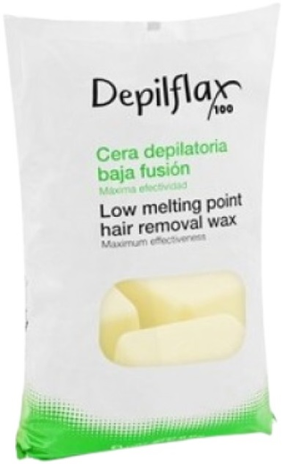 Depilflax 100 Low Melting Point Hair Removal Wax горячий воск в брикетах хлопок
