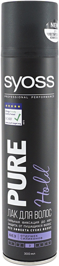 Syoss Professional Performance Pure Hold лак для волос сильной фиксации (300 мл)